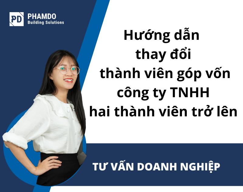 hướng dẫn thay đổi thành viên góp vốn công ty TNHH hai thành viên trở lên