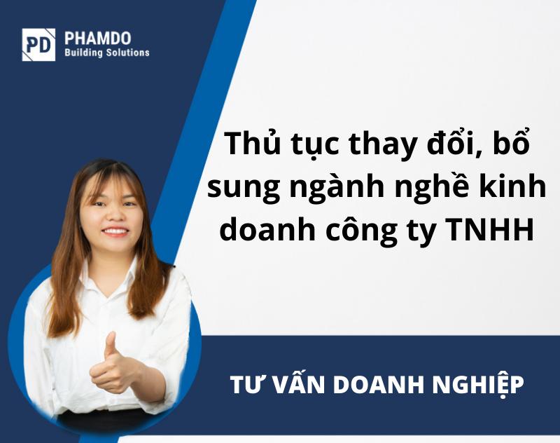 thủ tục thay đổi bổ sung nghành nghề kinh doanh công ty TNHH